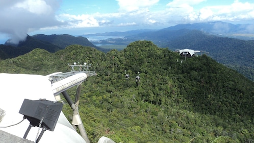 Mat Chinchang Hill features a cable car system that towers over the hills of Langkawi