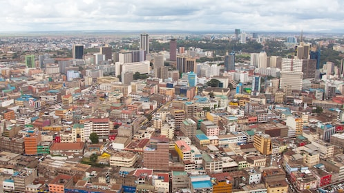 Aerial view of the city of Nairobi