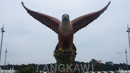 Iconic statue of an eagle in Langkawi