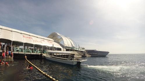 Catamaran ready to depart for Palau Payar Marine Park