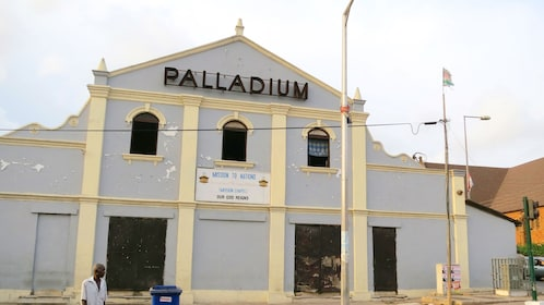 Facade of a mission in the Palladium district in Accra