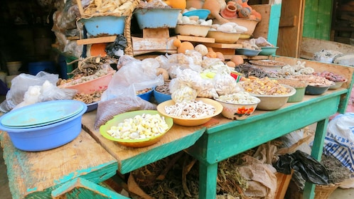 Goods for sale at a market in Accra