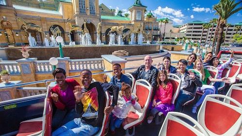 Guests enjoy remarkable views of Johannesburg on an open-air double decker tour bus