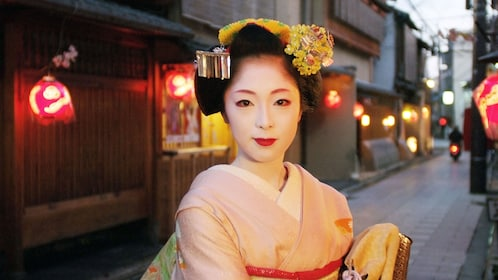 Woman in beautiful outfit in Tokyo