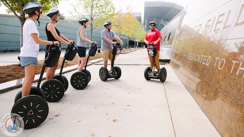 Five people on the segway tour in chicago