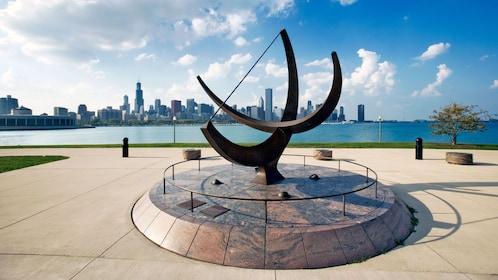 Sundial sculpture in chicago
