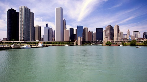 sky scrapers near lake Michigan in chicago