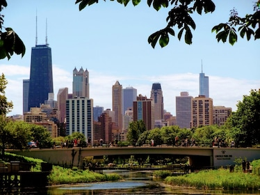 Lincoln Park Zoo Bridge and city view.jpg
