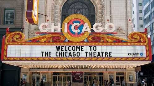 Chicago theatre sign in Illinois