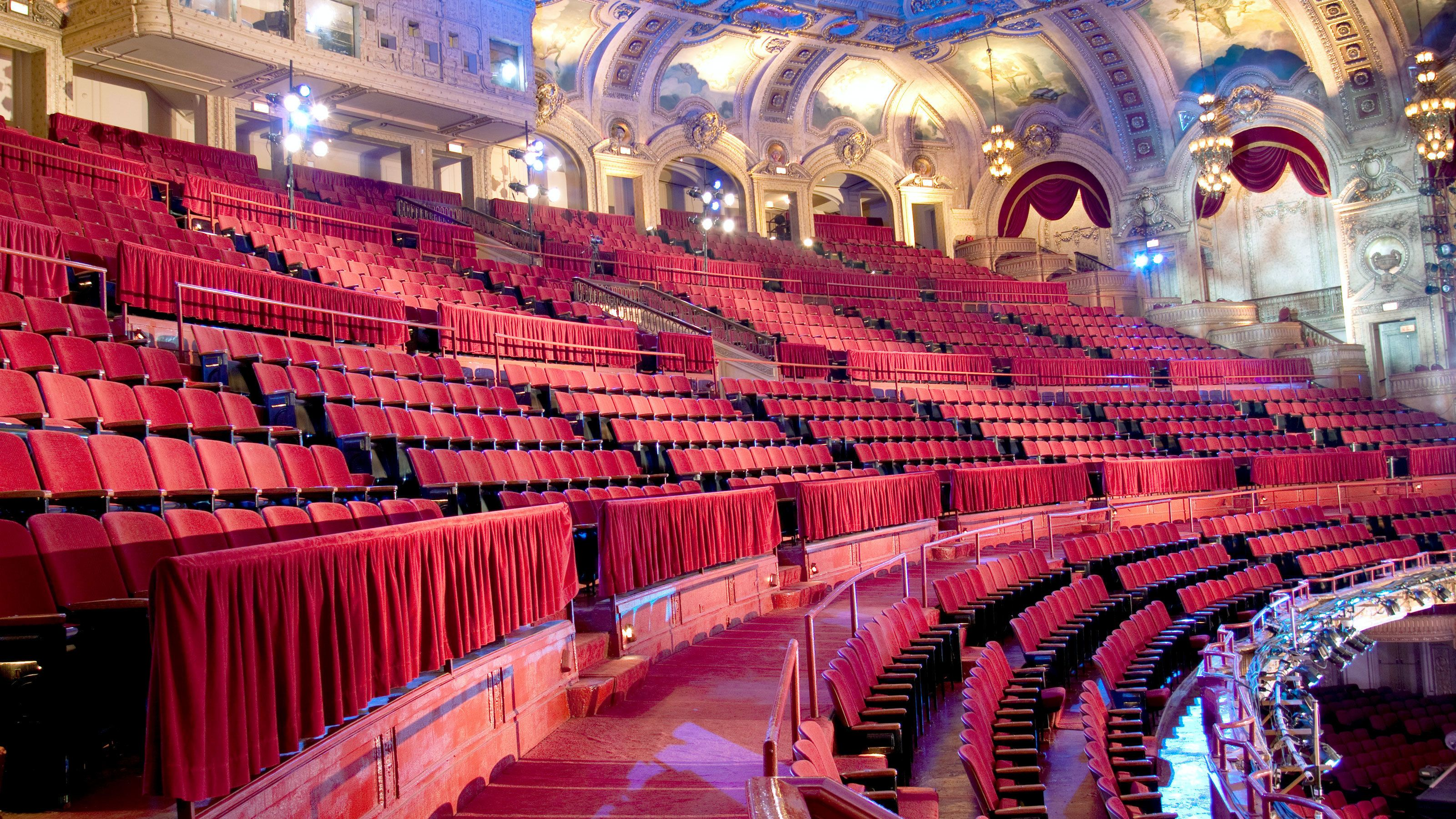 Theatre seating in Chicago