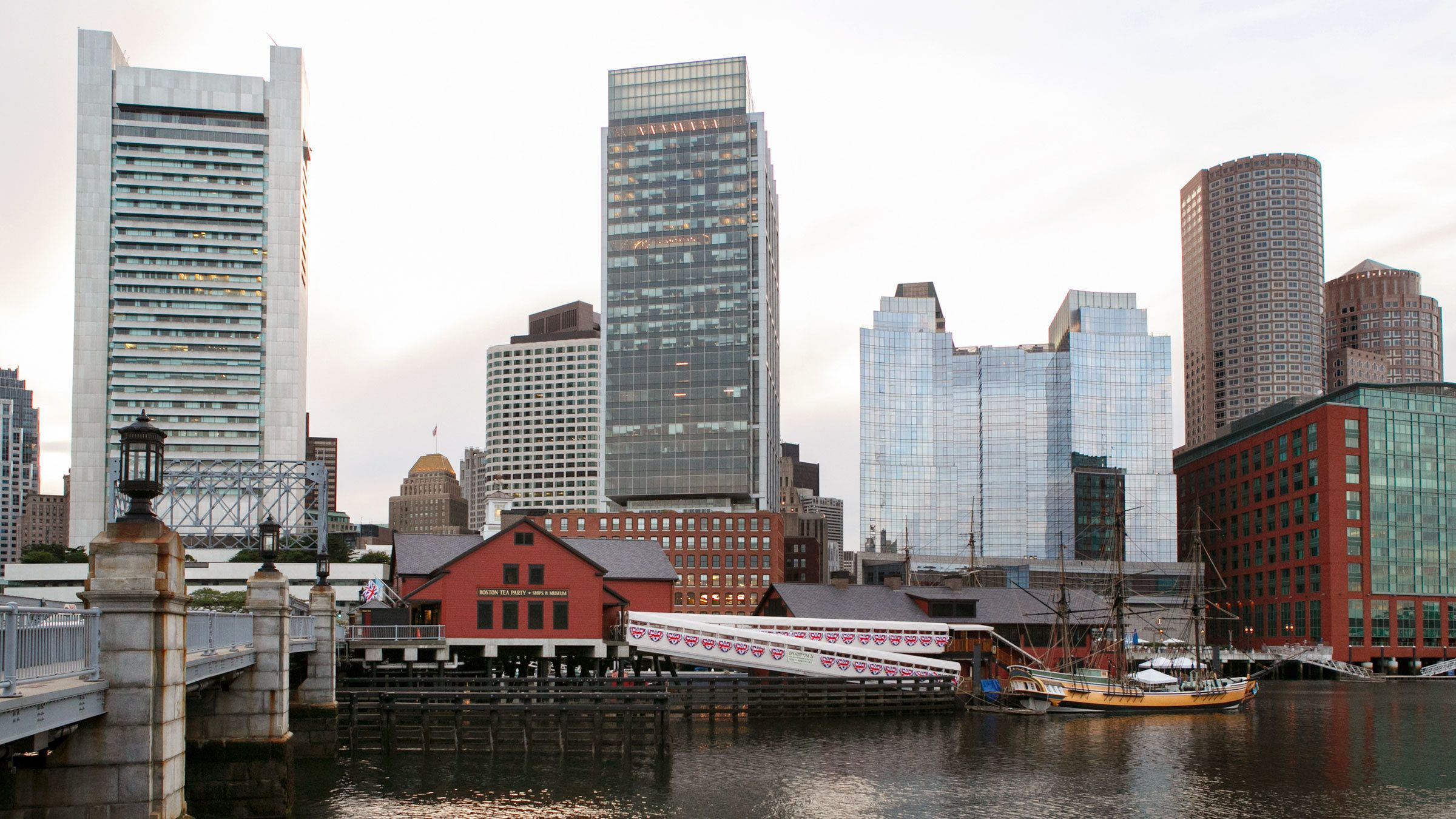 Boston Tea Party Ships Museum on the water in Boston