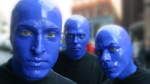 Blue Man Group trio in Boston