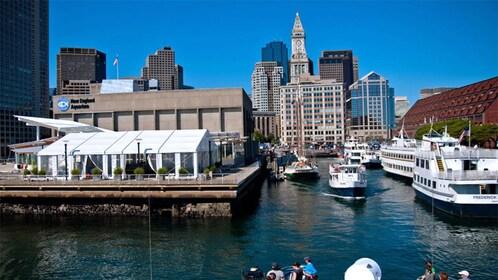 Boston Harbor and the New England Aquarium in Boston