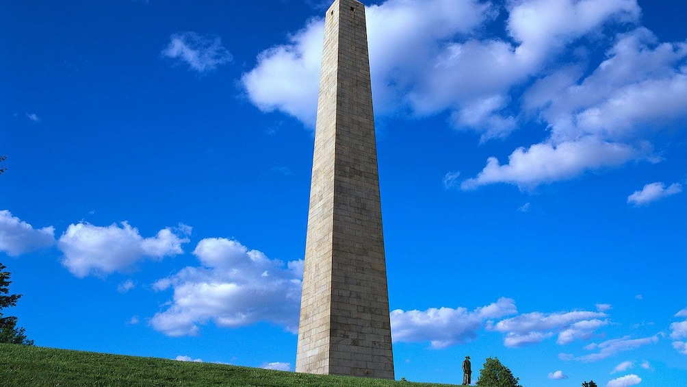 Show item 1 of 8. The obelisk monument at Bunker Hill in Boston