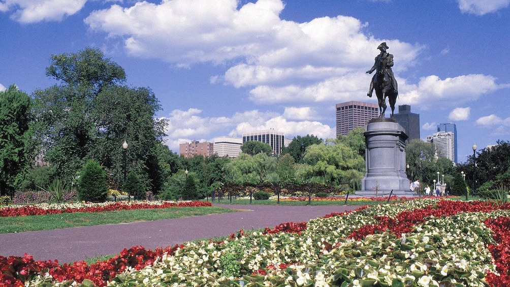 Show item 8 of 8. George Washington statue at Boston Common Park in Boston