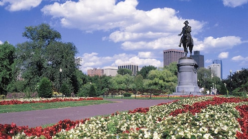 George Washington statue at Boston Common Park in Boston