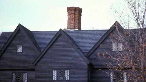Rooftop of the House of the Seven Gables in Salem