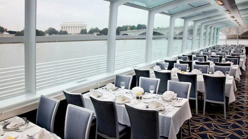 Having brunch aboard the Odyssey of Washington cruise ship in Washington DC