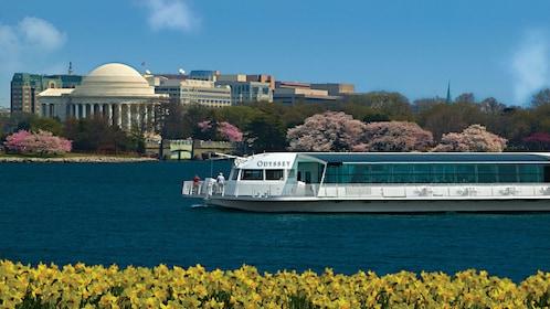 The Odyssey of Washington cruising by the Jefferson Memorial in Washington DC