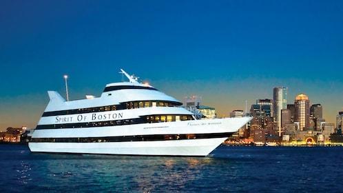 Spirit of Boston cruise ship at night