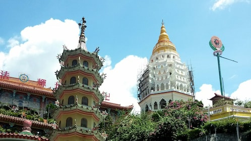 pagodas at a temple on penang hill
