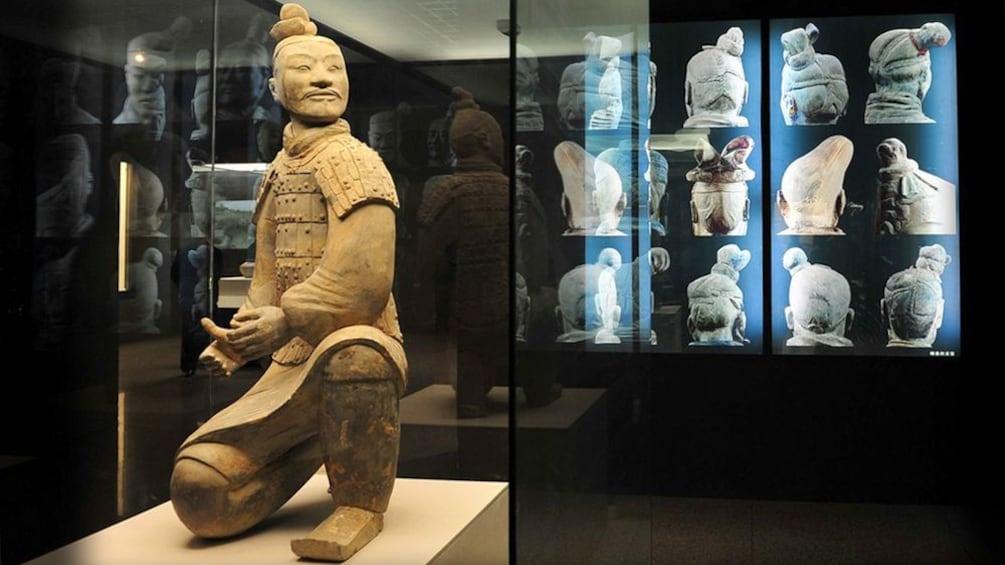 Show item 3 of 5. statue exhibit in Xian