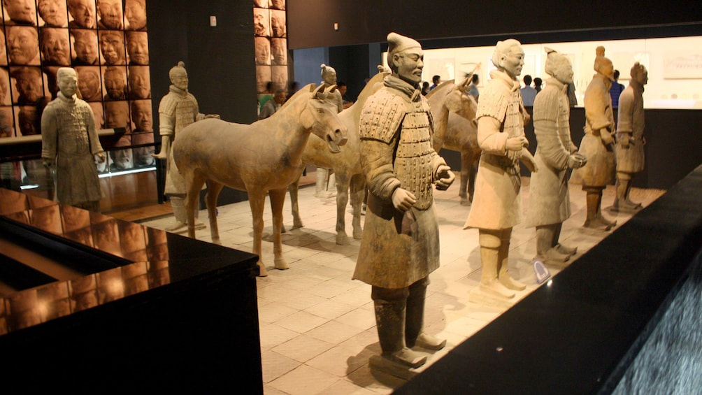 Show item 3 of 5. statues of soldiers in Xian