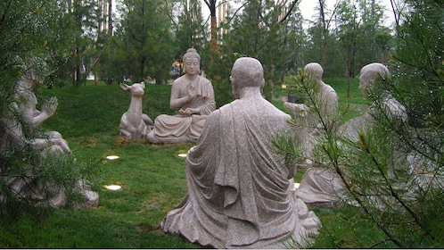 meditating statues in xian