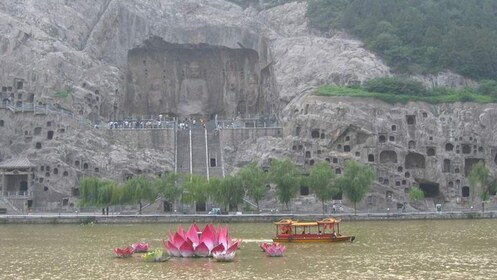 carved cliffs in xian