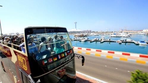open air tour bus in Abu Dhabi