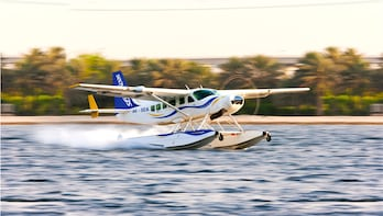 Abu Dhabi to Dubai Seaplane flight and Dubai Frame ticket
