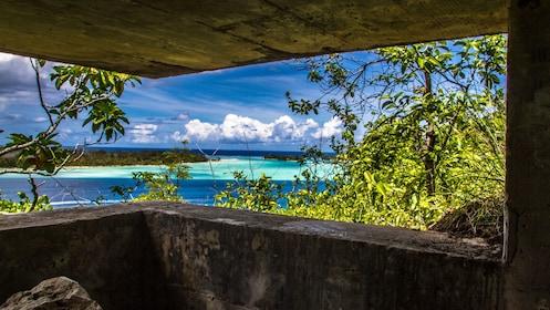 Gorgeous view of the water in Bora Bora