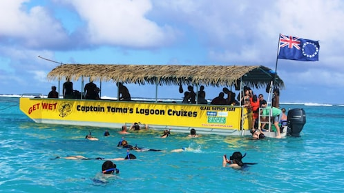 Snorkelers on a Lagoon Cruise