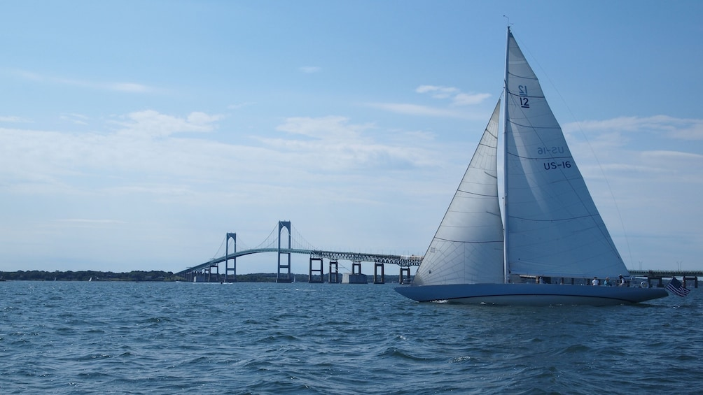 Show item 4 of 4. Clear afternoon for sailing in Newport