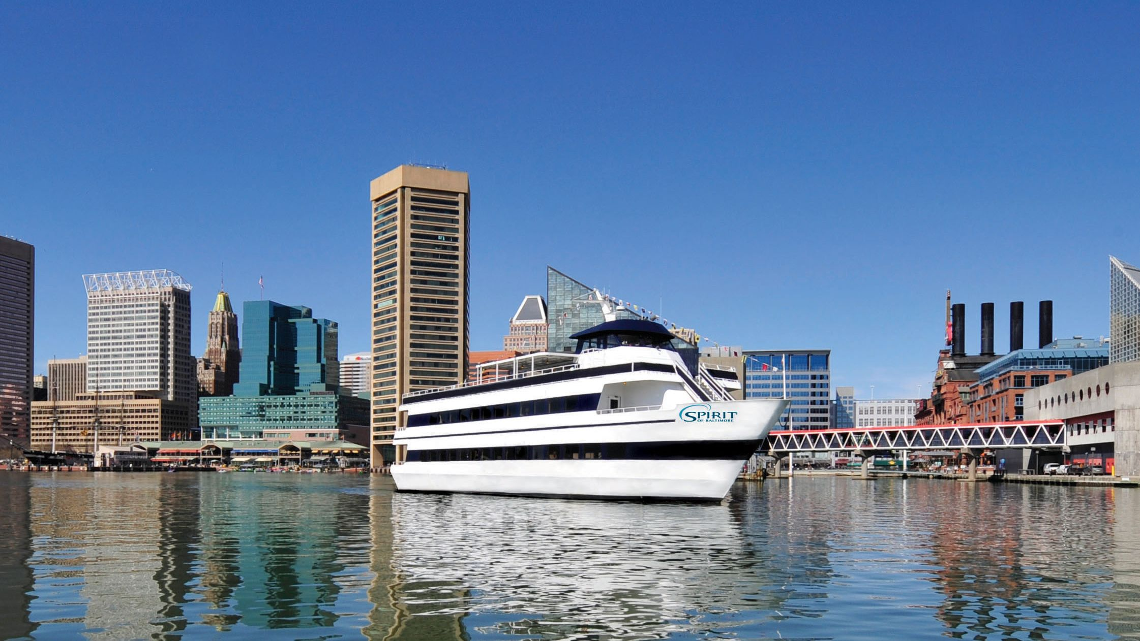 Exterior view of the Spirit of Baltimore cruise ship