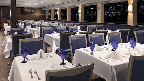 Dining hall within the Spirit of Baltimore cruise ship
