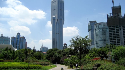 Downtown view of Shanghai on a sunny day