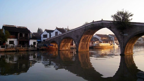 Bridge canal at the Zhujiajiao Water Village in Shanghai