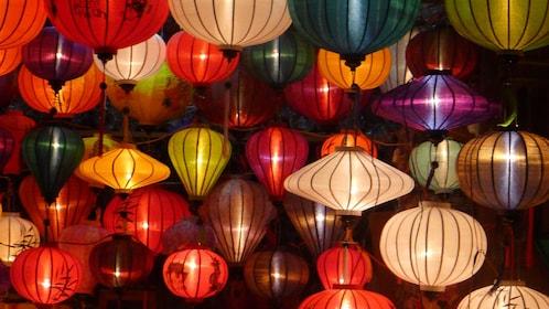 Beautifully lit lanterns in Hoi An Vietnam