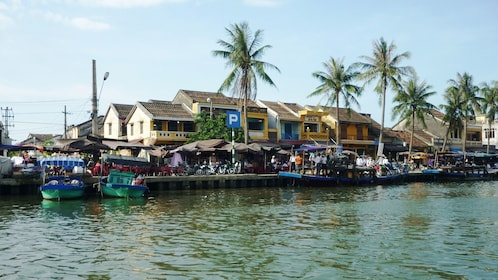View of the waters in Hoi An during the day in Vietnam