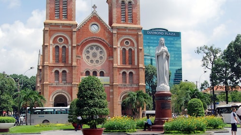 Saigon Notre-Dame Basilica or the Basilica of Our Lady of The Immaculate Conception a cathedral located in the downtown of Ho Chi Minh City