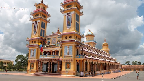 Breathtaking view outside the Private Tour to Cao Dai Temple in Tay Ninh Vietnam