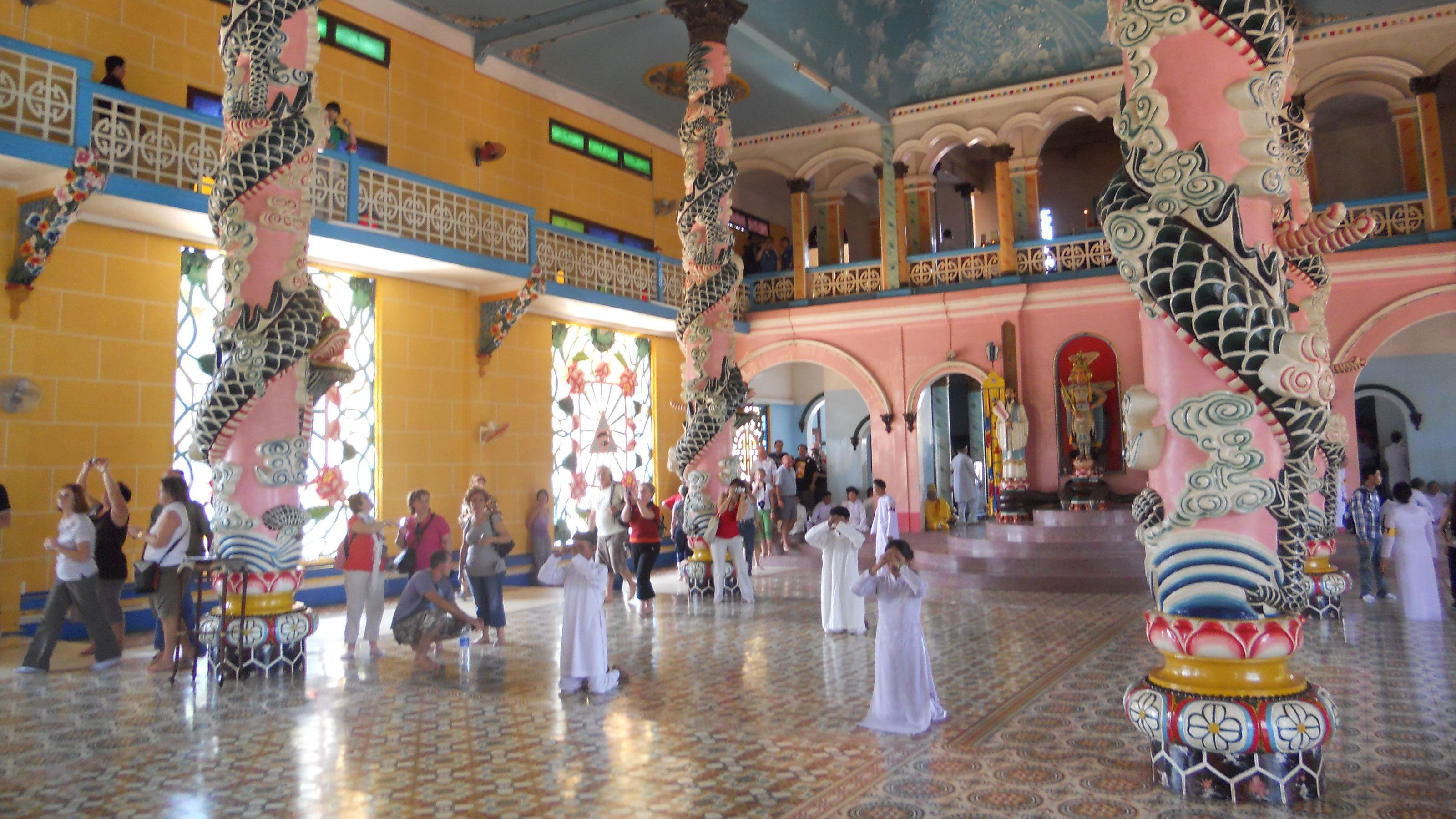 View inside the Private Tour to Cao Dai Temple in Ho Chi Minh City
