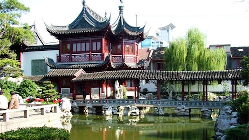 Serene view of the Yu Garden in Shanghai