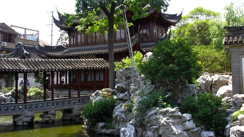 Side view of the Yu Garden in Shanghai