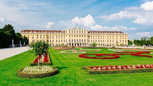 The garden grounds of Schönbrunn Palace in Vienna