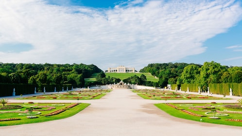 Extensive grounds with Schönbrunn Palace on hill in Vienna