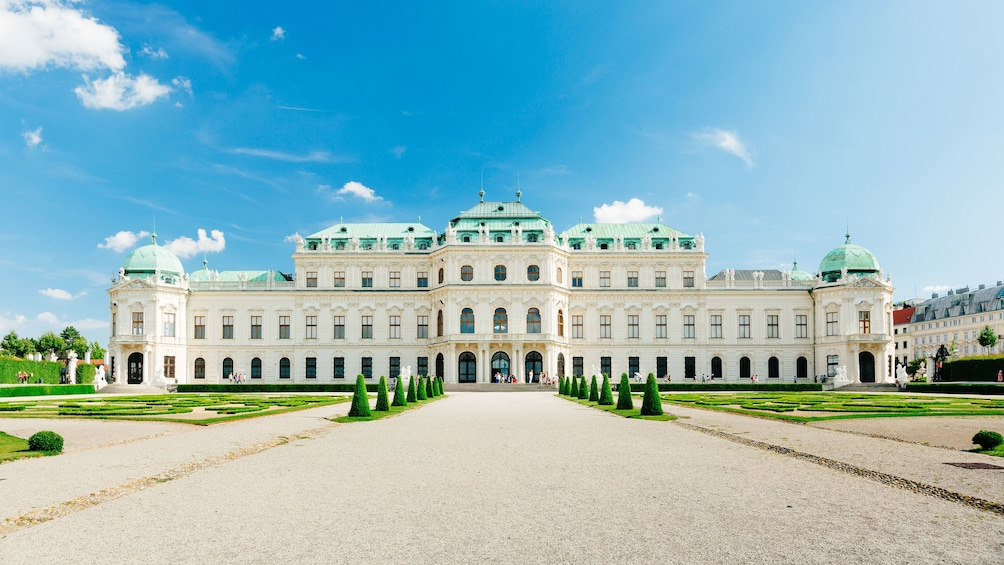 Exterior of Belvedere Palace in Vienna