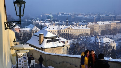 Prague city tour in winter