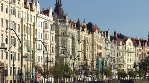 City residence architecture in Prague
